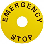 CP-132 - Emergency Stop Plate (Label)